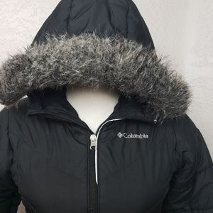 Columbia Jackets & Coats - Columbia Black Hooded Puffer Jacket Sz Med